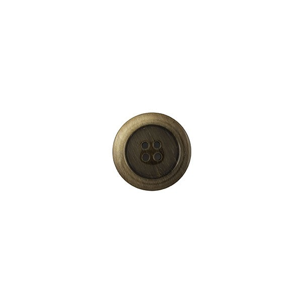 BUTTON 4HOLE  - BROWN