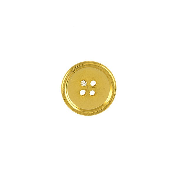 4 HOLES METAL BUTTON - GOLD