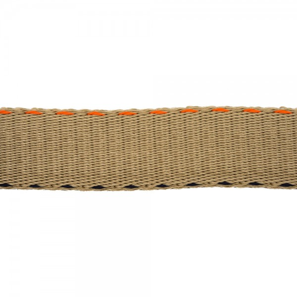 DOUBLE STITCHED RIGID WOVEN WEBBING - COOKIE