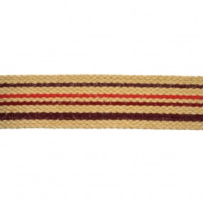 JUTA RIGID WOVEN WEBBING WITH STRIPE - BORDEAUX