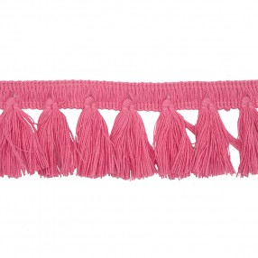 FRINGE TRIM TASSEL 40MM - SHOCKING PINK