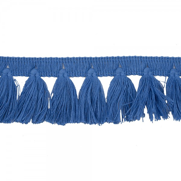 FRINGE TRIM TASSEL 40MM - DUTCH BLUE