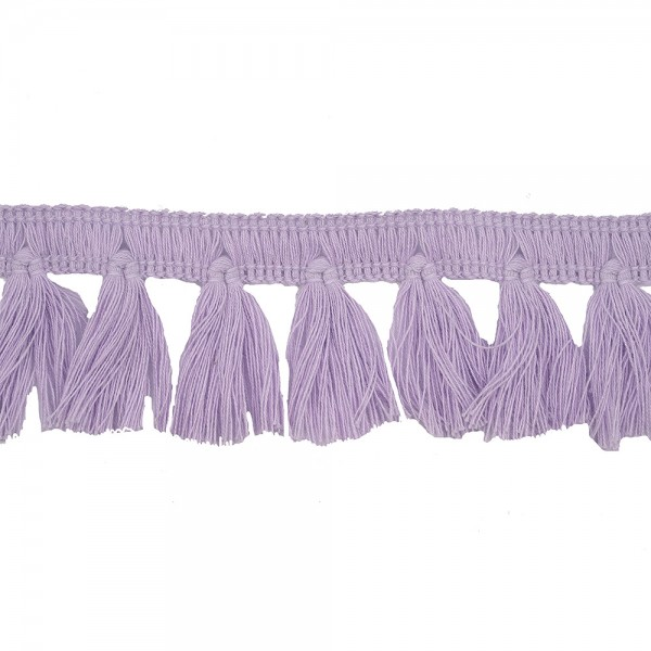 FRINGE TRIM TASSEL 40MM - LILAC