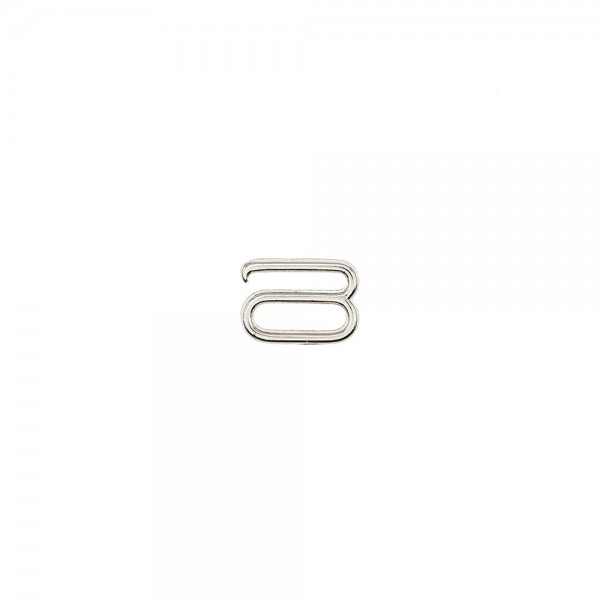 METAL HOOK FOR STRAPS 10MM - SILVER