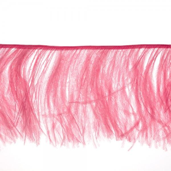 OSTRICH FEATHER FRINGE 150MM - AURORA PINK