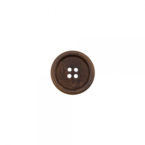 COROZO BUTTON 4 HOLES - COFFEE