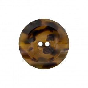 CUPPED BUTTON 2 HOLE - TORTOISE