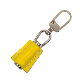 ZIP PULLER FAUX LEATHER - NIKEL YELLOW