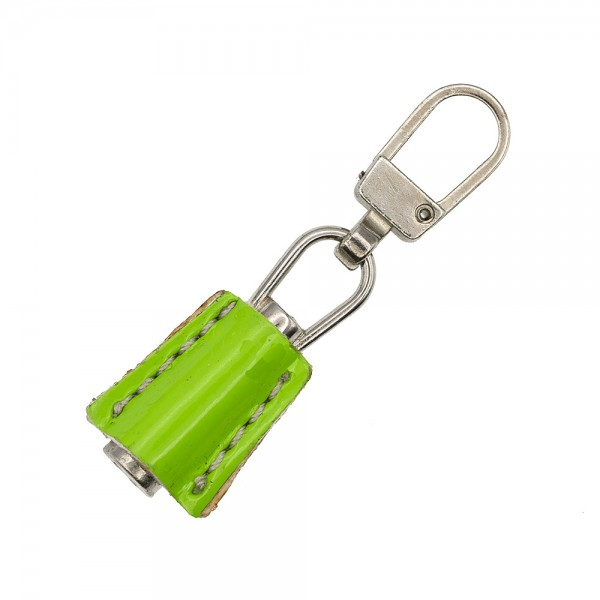 ZIP PULLER FAUX LEATHER - NIKEL GREEN