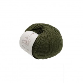 SPRING WOOL YARN Laines Du Nord - OLIVE GREEN