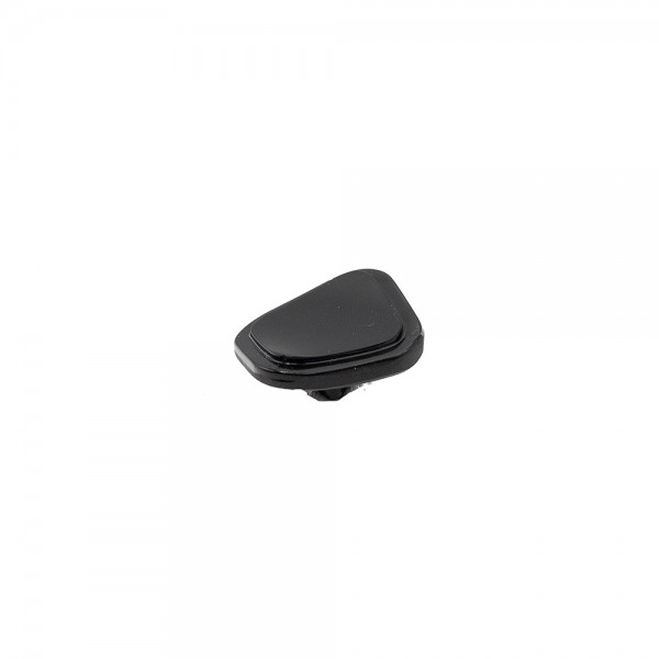 SQUARE GLASS SHANK BUTTON WITH RIM - BLACK