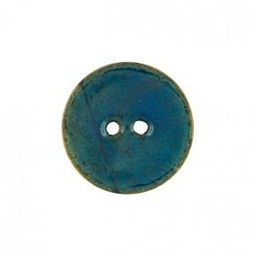 GENUINE COCONUT BUTTON - BLUE BRISTOL
