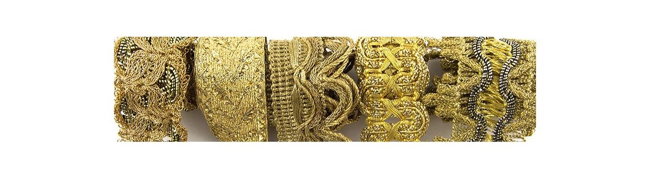 Metallic Braids Trimmings - Gold