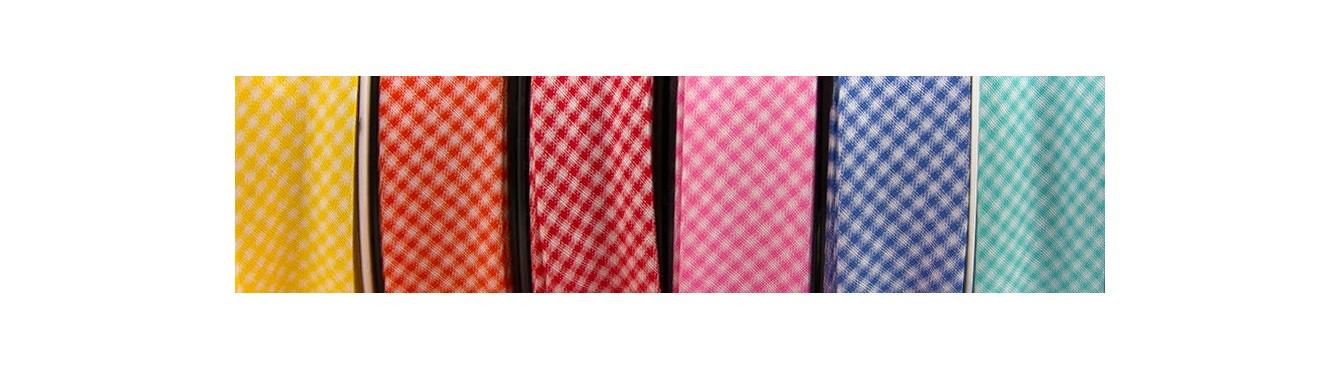 Striped and Gingham Bias Binding Ribbon