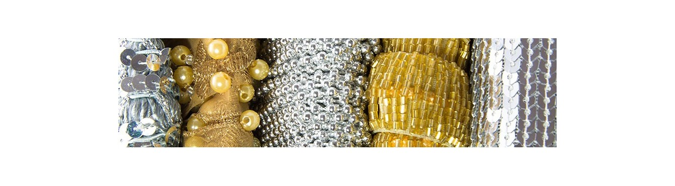Beads Trimming Gold Silver