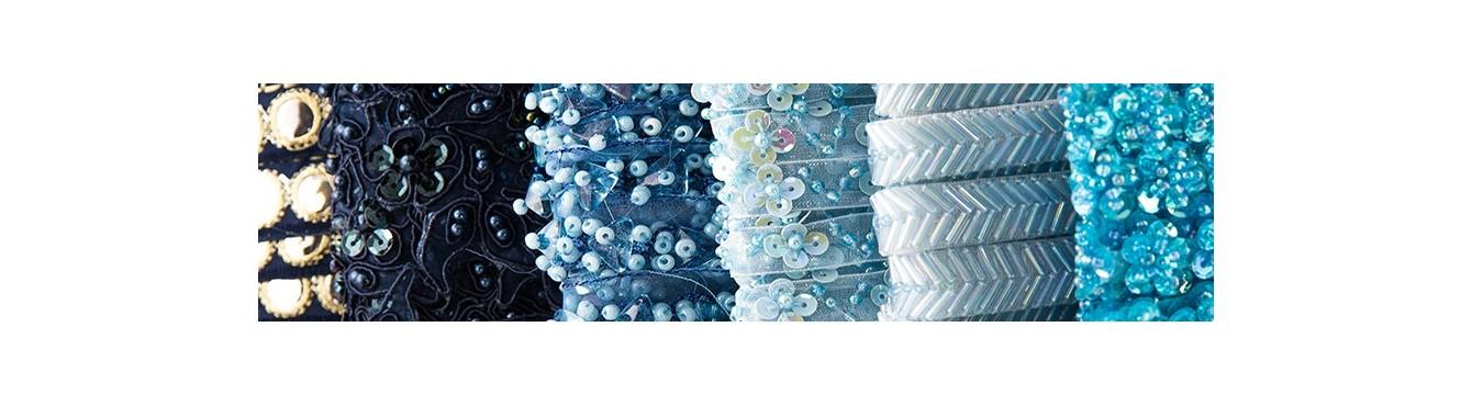 Beads Trim Sky-Blue