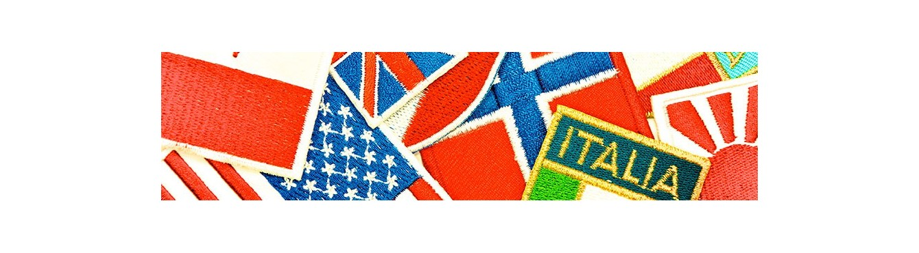 Flags embroidered Motifs