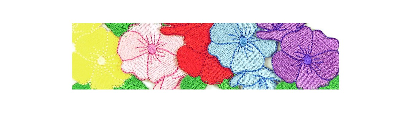 Flowers Embroidered Motifs