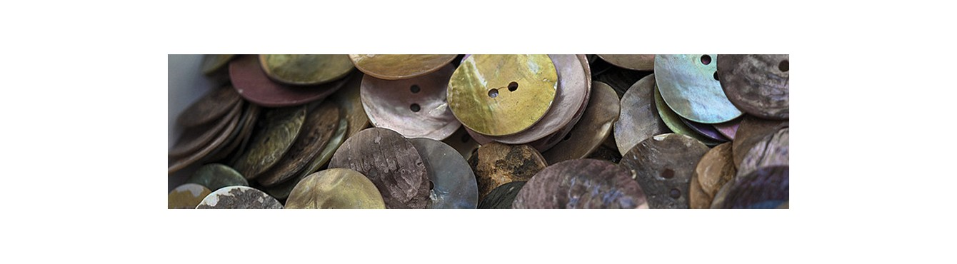 Shell Buttons - Beige Brown