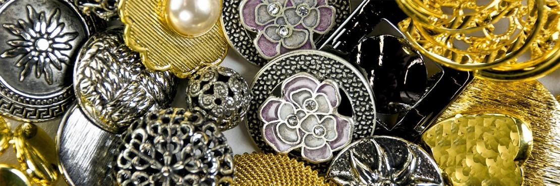 Jewel Metal Button