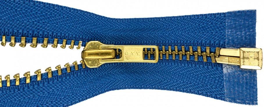 Gold Open End Metal Zips
