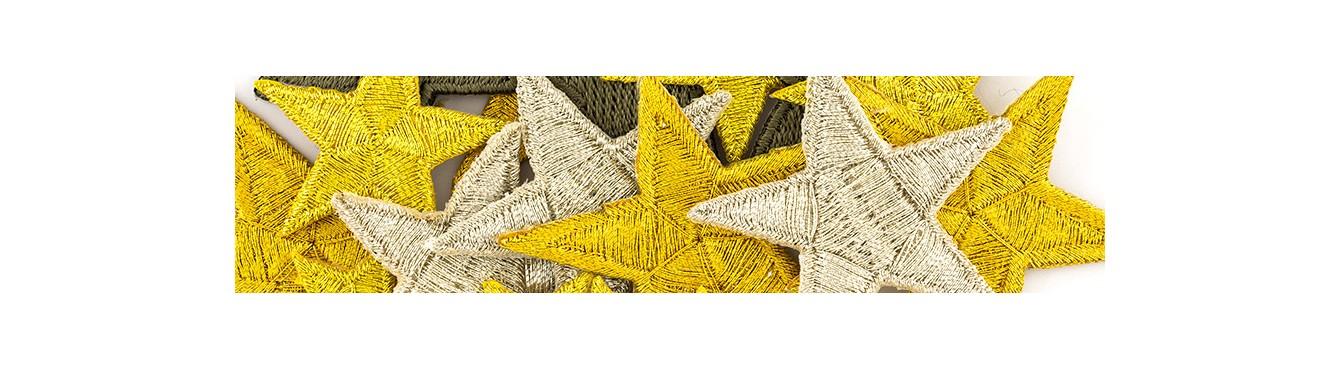 Star embroidered Motifs