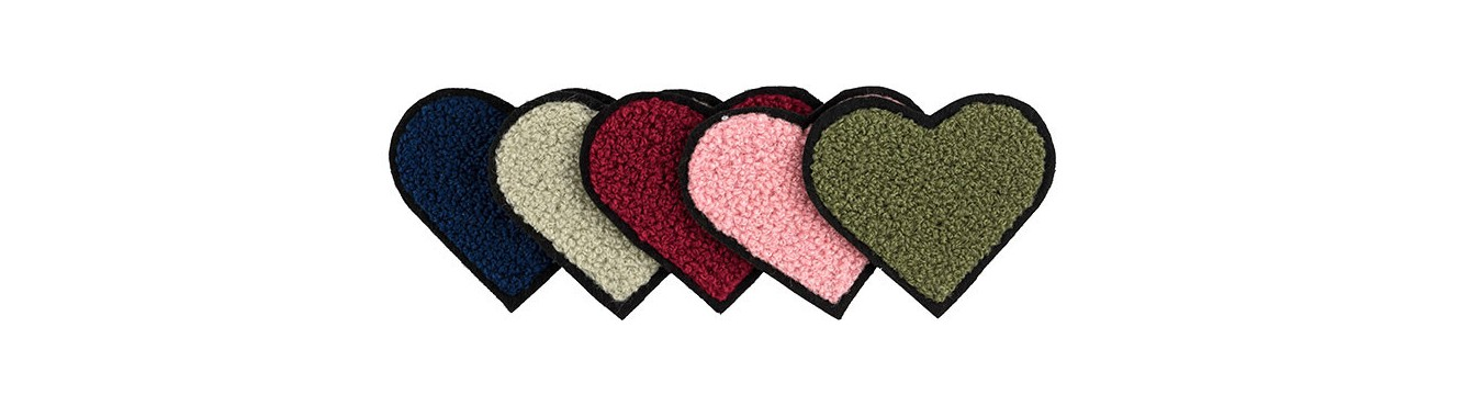 Heart Embroidered Motif
