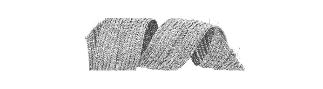 Metallic Braids Trimmings Silver