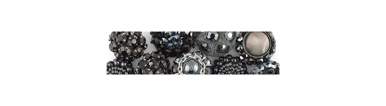 Vintage Buttons - Grey-Silver
