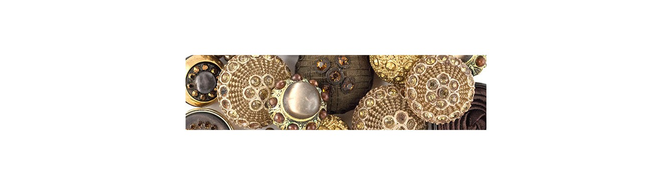 Vintage Buttons - Beige-Brown