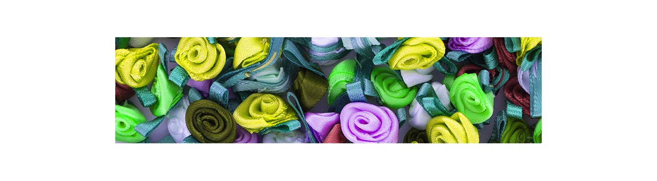 Small Ribbon Roses