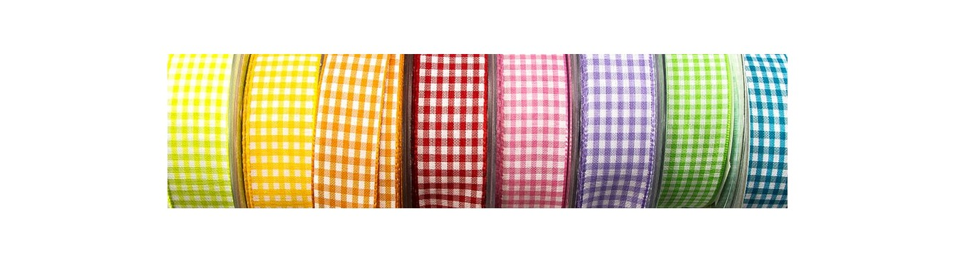 Gingham and Striped Ribbon